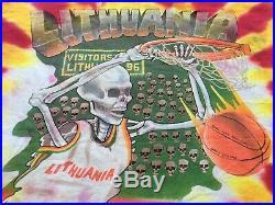 Grateful Dead Lithuania 1992 Shirt Tie Dye Basketball Barcelona Olympics 90s VTG