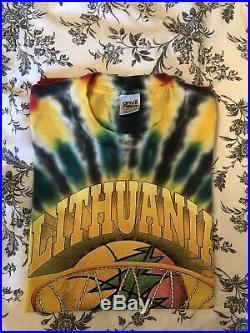 Grateful Dead Lithuania Olympic Basketball Team Vintage tie-dye t-shirt XL
