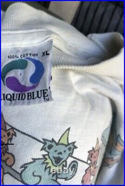 Grateful Dead MC Escher 1993 Dancing Bears Vintage Liquid Blue Shirt