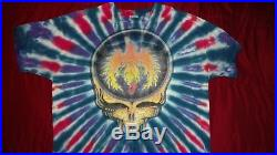 Grateful Dead Phoenix Rising Tye-Dye T-shirt. Very Rare Delta. XL