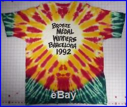 Grateful Dead RARE Lithuania Bronze Winners Barcelona'92 Tie-dyed 2XL T-Shirt