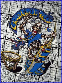 Grateful Dead SUPER RARE All Over VTG XL NYC Map Original 1991 MSG Tour Shirt