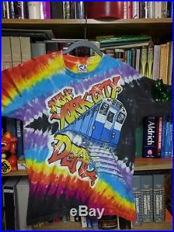 Grateful Dead Shirt 1991 New York City Concert Graffiti MSG NYC Tie Dye Shirt L