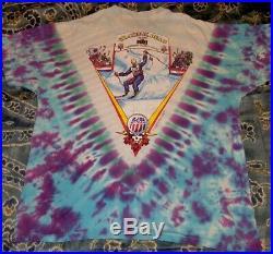 Grateful Dead Shirt 1996 US Olympic Downhill Ski Skeleton XL Vintage