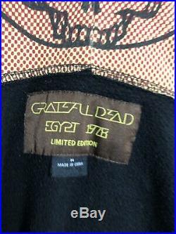 Grateful Dead Shirt Egypt 1978 Sweatshirt Zip Hoody Stanley Mouse Art'78 SYF M