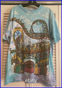 Grateful Dead Shirt TShirt Vintage 1993 Roller Coaster Carnival Tie Dye Large XL