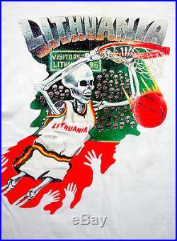 Grateful Dead Shirt T Shirt 1992 Lithuania Basketball Olympics NBA Vintage L