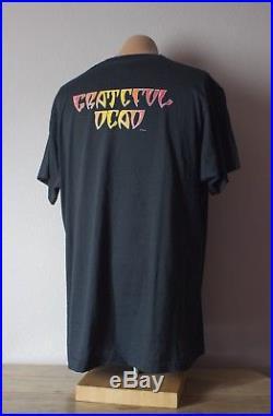 Grateful Dead Shirt T Shirt Vintage 1989 Halloween Pumpkin Skull Mikio GDM XL