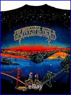 Grateful Dead Shirt T Shirt Vintage 1990 Dead Set New York San Francisco GDM L