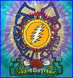 Grateful Dead Shirt T Shirt Vintage 1990 Sunshine Daydream Snakes Summer Tour XL