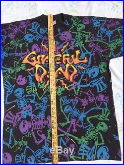 Grateful Dead Shirt T Shirt Vintage 1992 Dead Space Dancing Skeleton RARE XL