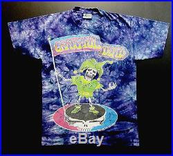 Grateful Dead Shirt T Shirt Vintage 1994 Jester Steal Your Face Flag Tie Dye L
