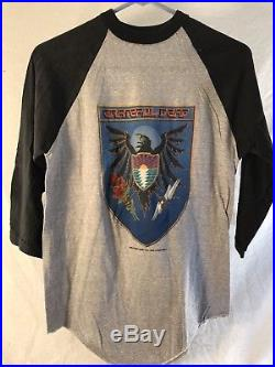 Grateful Dead Shirt, Tour 83 Vintage 3/4 Sleeve, DeadStock, original Medium