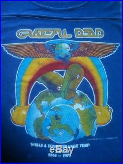 Grateful Dead Shirt Vintage T-Shirt'79 Jersey What A Long Strange Trip Its Been