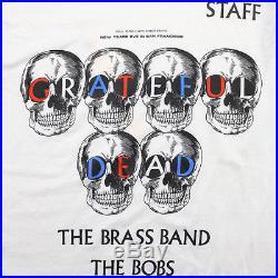 Grateful Dead Shirt Vintage tshirt 1985 New Years Eve Staff Jerry Garcia Rock
