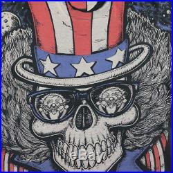Grateful Dead Shirt Vintage tshirt 1990s Uncle Sam Skeleton All Over Print USA