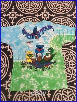 Grateful Dead Shirt Vintage tshirt 1992 Spring Tour Japan All Over Print Rock