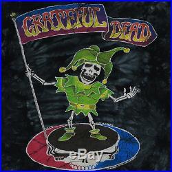 Grateful Dead Shirt Vintage tshirt 1994 Skeletal Jester Tie Dye tee 1990s rock