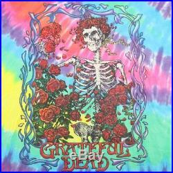 Grateful Dead Shirt Vintage tshirt 1995 Rainbow Tie Dye Skeleton Jerry Garcia