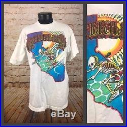 Grateful Dead Shirt rare vintage GENUINE 93' West Coast Tour Rick Griffin XL