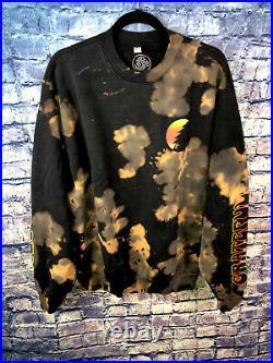 Grateful Dead Sunset Crew Sweatshirt Black Tie Dye Extra Large Rare Free Ship