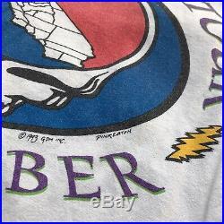Grateful Dead Surfing Skeleton T Shirt VTG Concert Tee 1993 RARE USA sz Xl