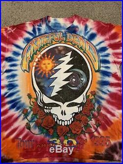 Grateful Dead T Shirt Vintage 1995 Summer Tour Shirt Cities XL Tie Dyed 30th NOS