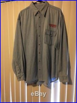 Grateful Dead VTG Button Up Long Sleeve Denim Shirt Dancing Skeletons XL Tshirt