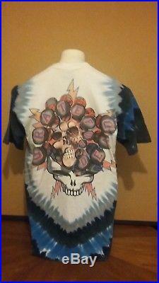 Grateful Dead Vintage 1994 Skull & Skeleton Hockey Player Tie Dye T Shirt Large