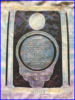 Grateful Dead Vintage 1995 T-Shirt 30th Anniversary Summer Tour XL Tie Dye Shirt