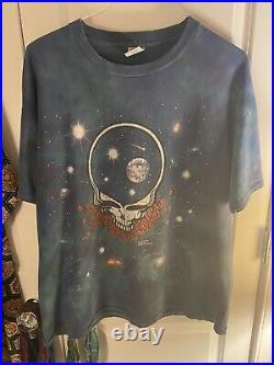 Grateful Dead Vintage 1997 XL Single Stitch Space Your Face Shirt