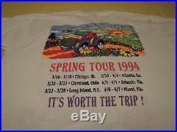 Grateful Dead Vintage Concert T-shirt Spring Tour (1994) Near Mint! Un-worn