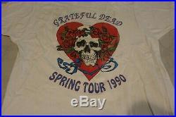 Grateful Dead Vintage Grateful Dead Shirt Spring 1990 Skull / Heart