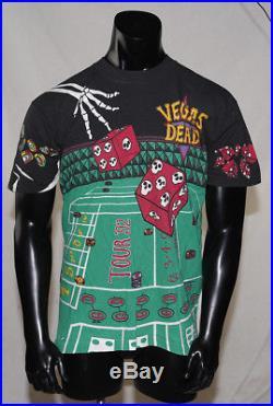 Grateful Dead Vintage Liquid Blue T-shirt Las Vegas 1992 Never Worn L Size Large