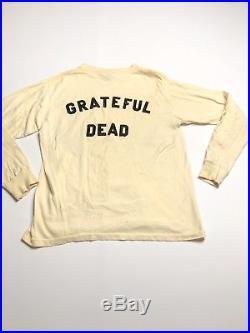Grateful Dead Vintage Medium Shirt Spell Out Letter 80s Long Sleeve Off White
