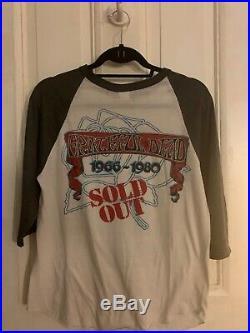 Grateful Dead Vintage Raglan T-shirt 1966-1980 size M Made in USA