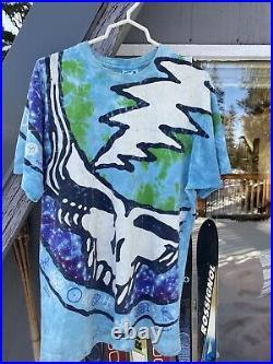 Grateful Dead Vintage Throwing Stones Tie Dye Concert Tour T-shirt Size XL