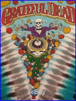 Grateful Dead shirt vintage 1991 GDM Brockum Liquid Blue Las Vegas Santana Rare