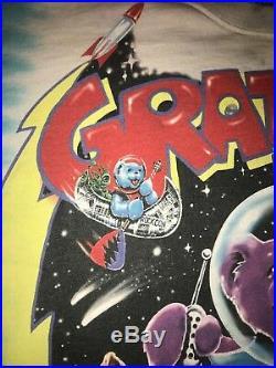 Grateful dead shirt rare 1997 Cosmic Charlie Liquid Blue XL