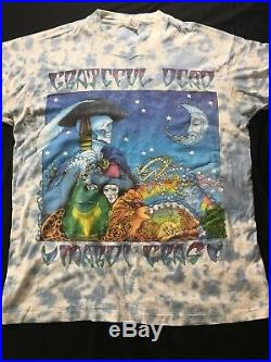 Grateful dead shirt vintage rare Mardi Gras 95' Blue Tie Dye XLarge