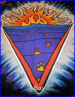 HTF Grateful Dead Shirt T Shirt Jerry Garcia Band Vintage 1991 JGB Cats Stars XL