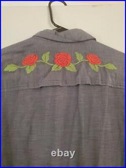 Howler Brothers Skulls & Begonias Grateful Dead Gaucho Snapshirt Size M Men's