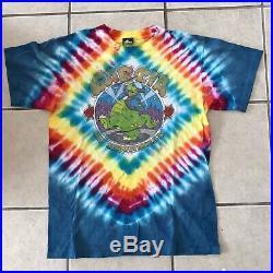 Jerry Garcia On Broadway Tie Dye 1987 Large Shirt Grateful Dead Badger Tag