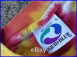 Liquid Blue Vtg 90s Lithuania Grateful Dead Tie Dye T-Shirt (Large) Bronze Medal