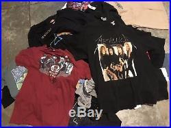 Lot 50 + Shirts Various Sizes & Genres Metallica Grateful Dead Michael Jackson