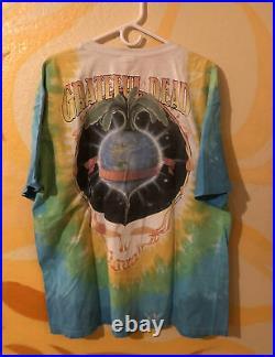 Lot of 5 Grateful Dead t shirts vtg 90s 00s size 2XL LIQUID BLUE tie dye garcia