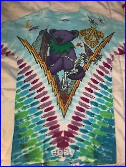 MINT grateful dead vintage shirt 1993 Dancin In the Streets Liquid Blue Large