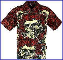 NEW Grateful Dead Bertha Skull and Roses Club Shirt, Dragonfly, M