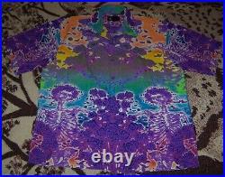 NEW Vintage THE GRATEFUL DEAD SKULL & ROSES Dragonfly Button Dress Shirt XXL 2XL