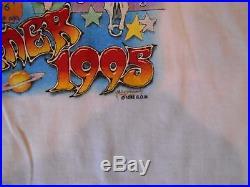NWOT Vtg GRATEFUL DEAD 1995 Summer Tour Cities Cartoon Concert T-Shirt Mens XL